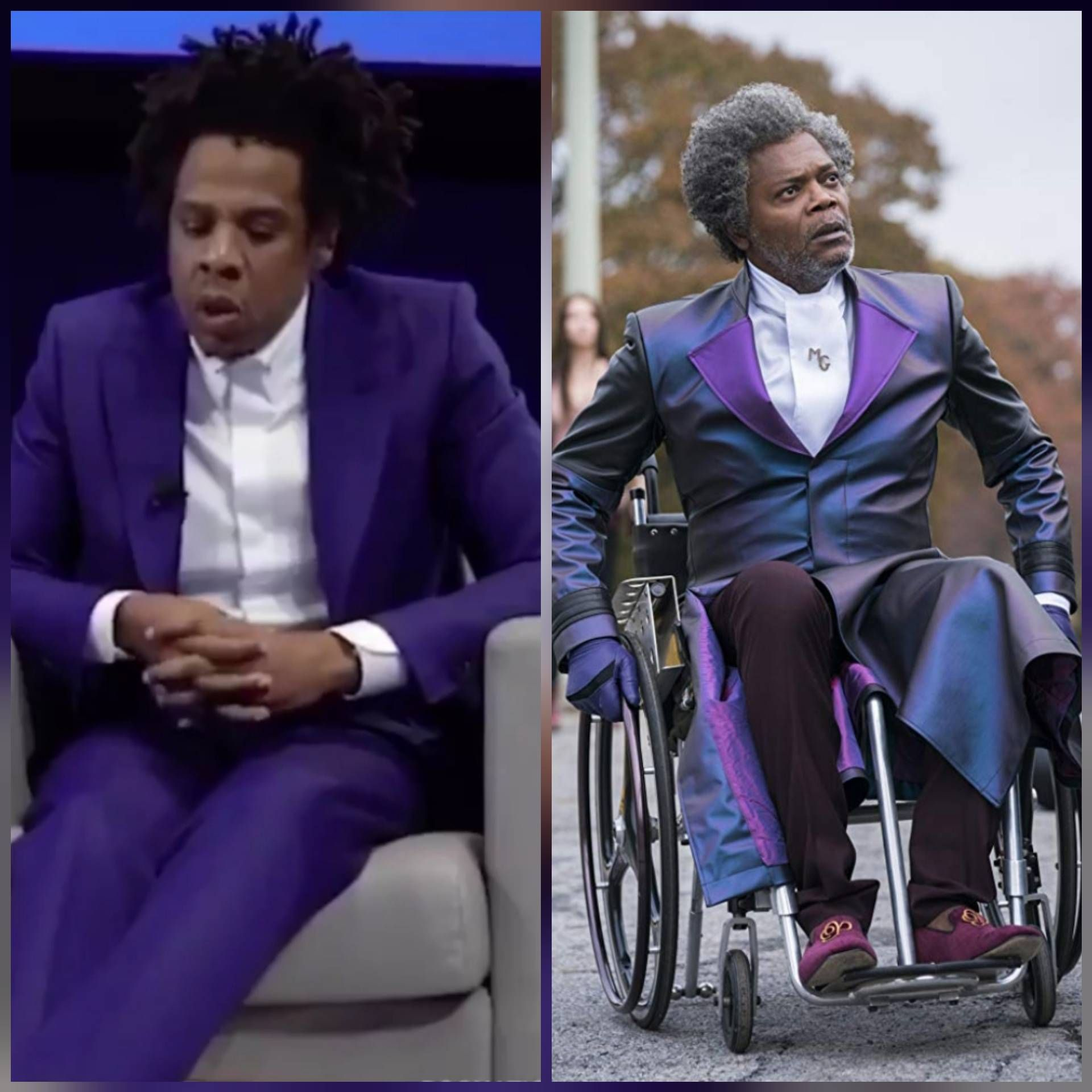 Jay-Z out here looking like Mr. Glass