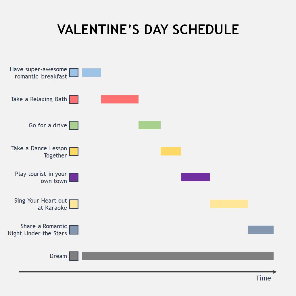 Valentine's day schedule