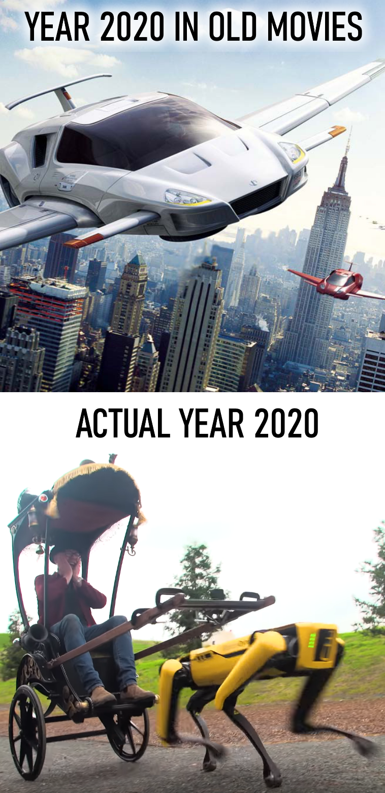 We were lied to. The future is so much better.