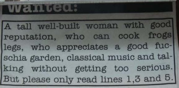 before Tinder singles would look for love in the newspaper