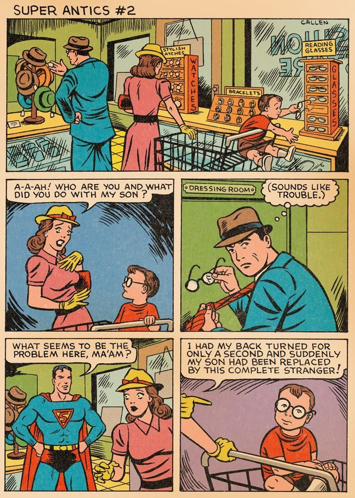 Self-aware Superman comic