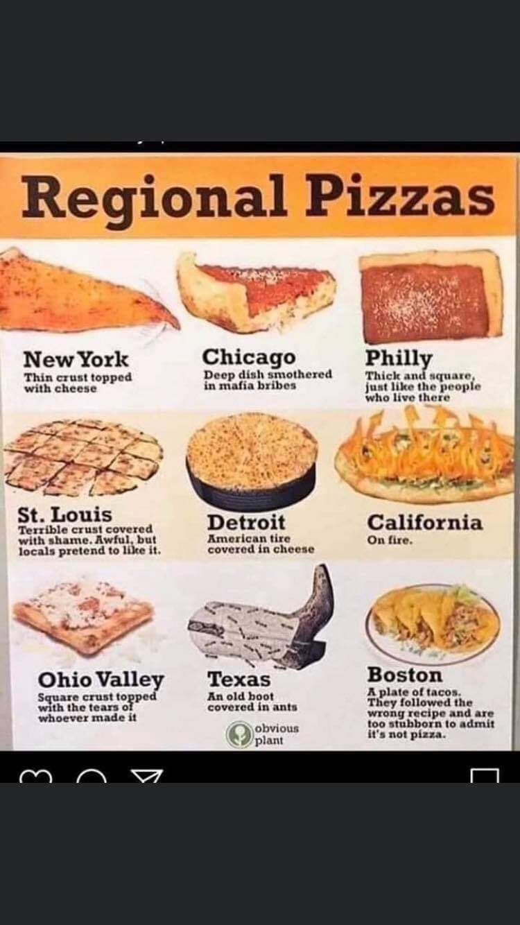 surprisingly, Texas pizza is the most similar to traditional Italian