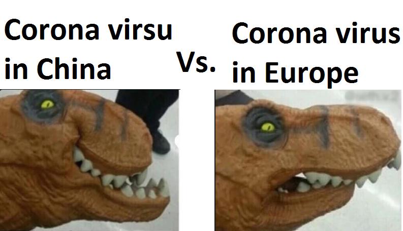 European view on corona virus.
