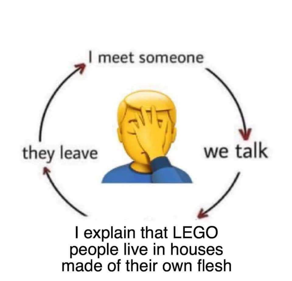 But they can't leave because I won't LEGO of them
