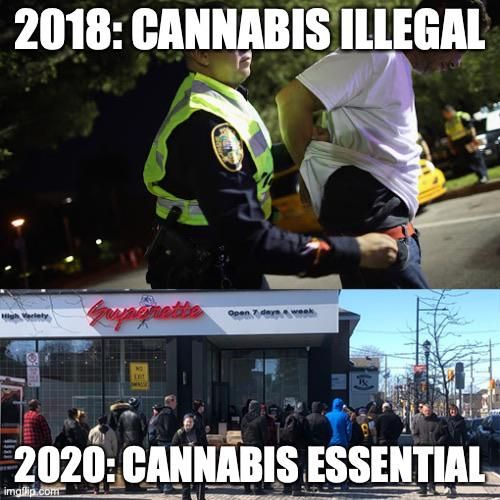 Quite turn of events in canada