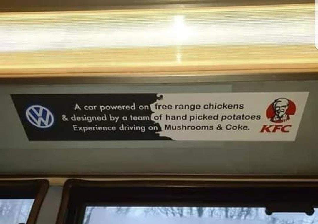 A car powered on free range chicken.