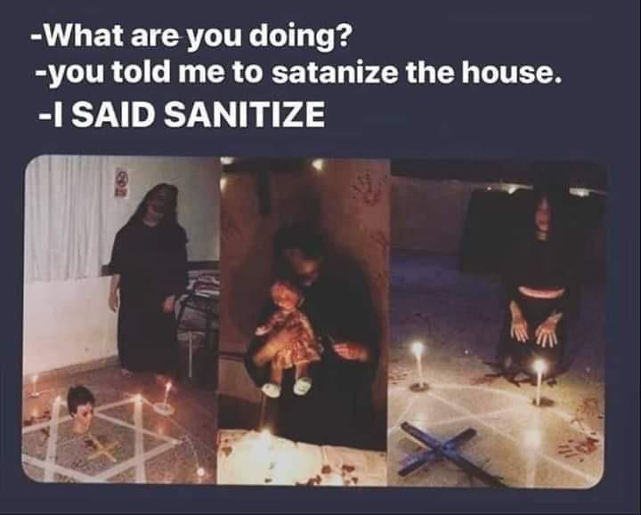 Let's satanize everything!