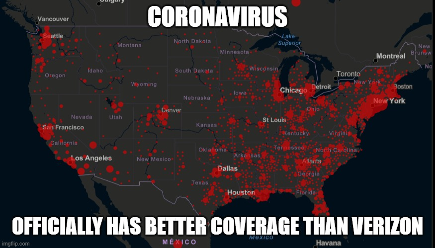 Cellular carriers should use the outbreak map to install more towers in heavily populated areas