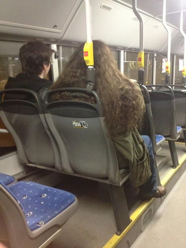 Just saw Harry & Hagrid at the bus!