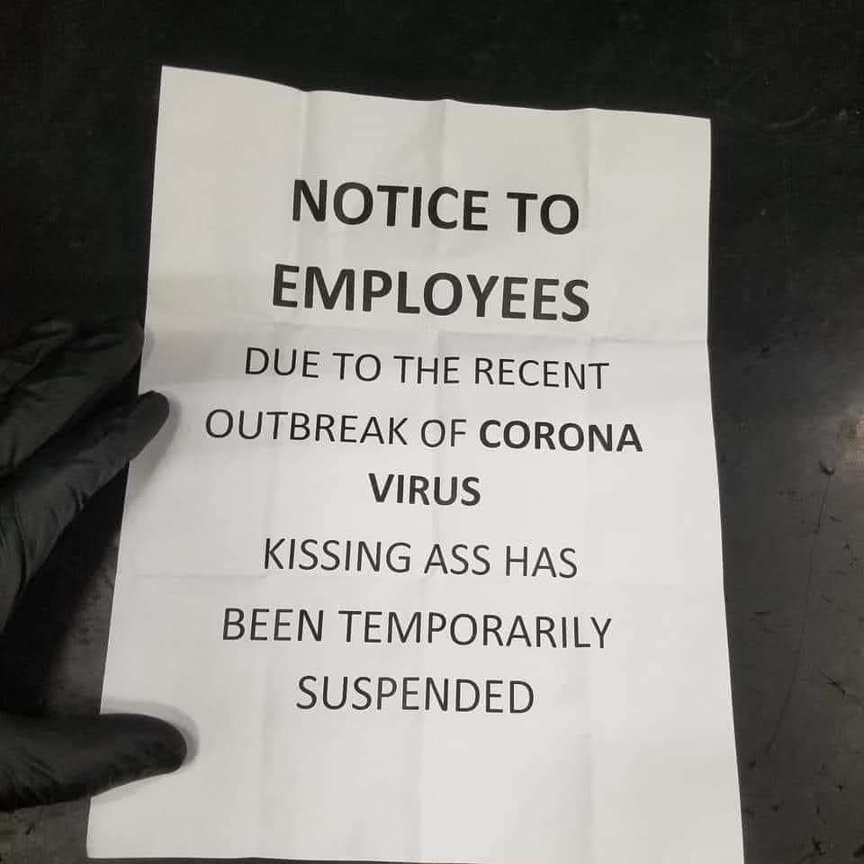 Received notice at work :)