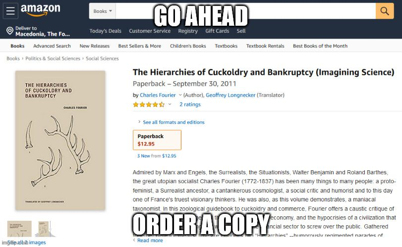It's a book about broke cucks.