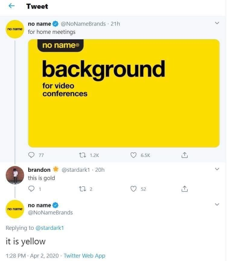 it is yellow