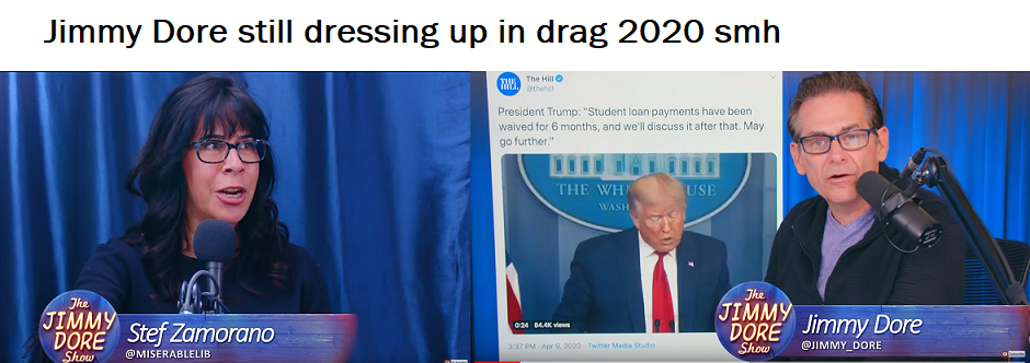 political youtube show jokes