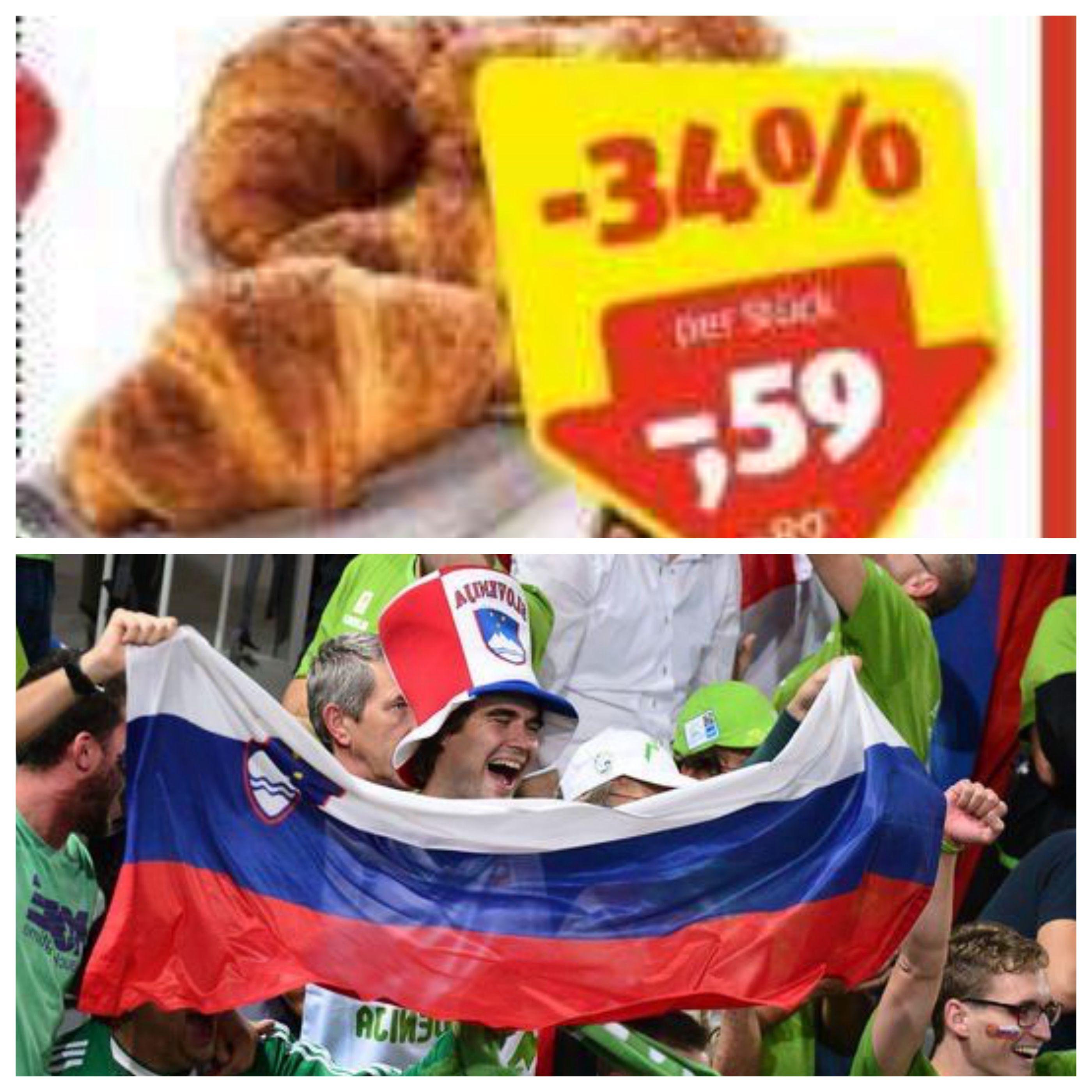 Slov when Hofer has croissant on discount