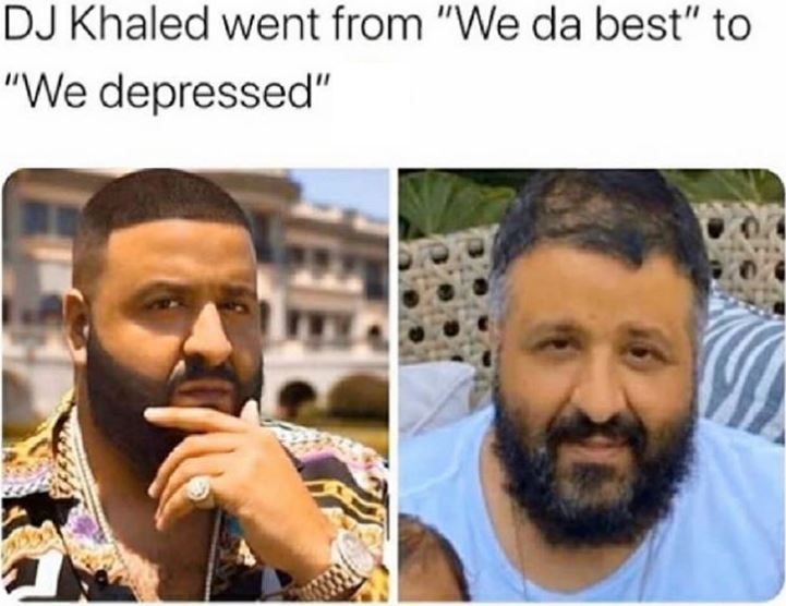 DJ Khaled doing quarantine like a real man