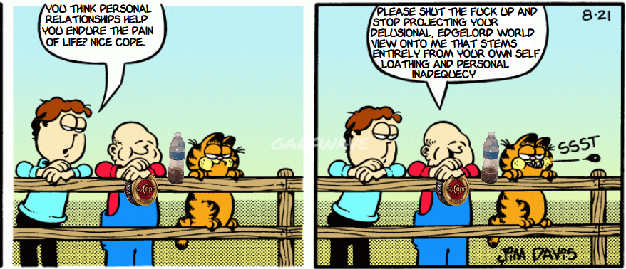 Back When Garfield Comics Were Spitting Facts About Cynics