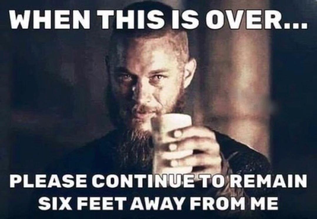 Six feet...