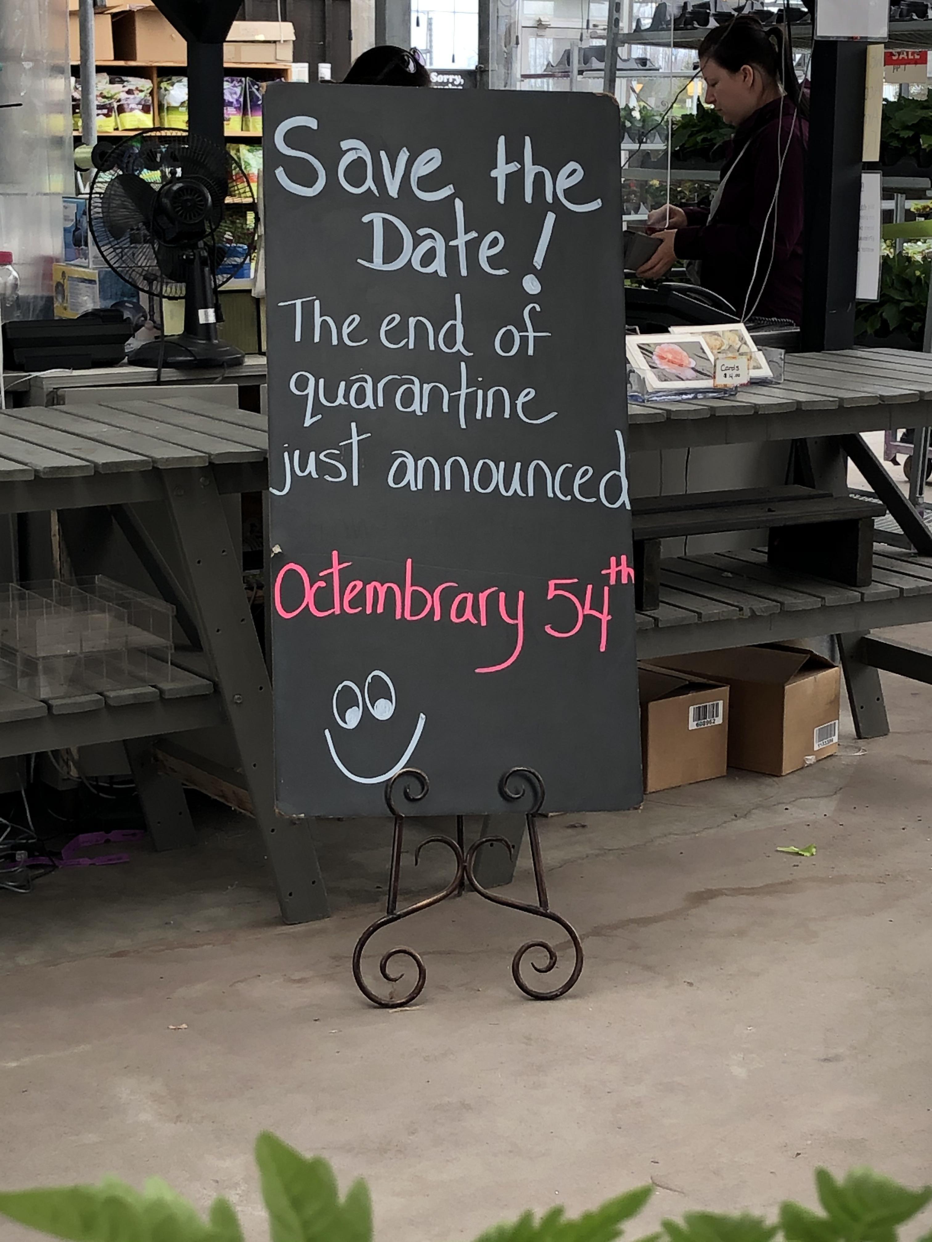 We are optimistic here in Canada!