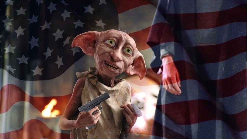 Master has given Dobby a glock, Dobby is FREE
