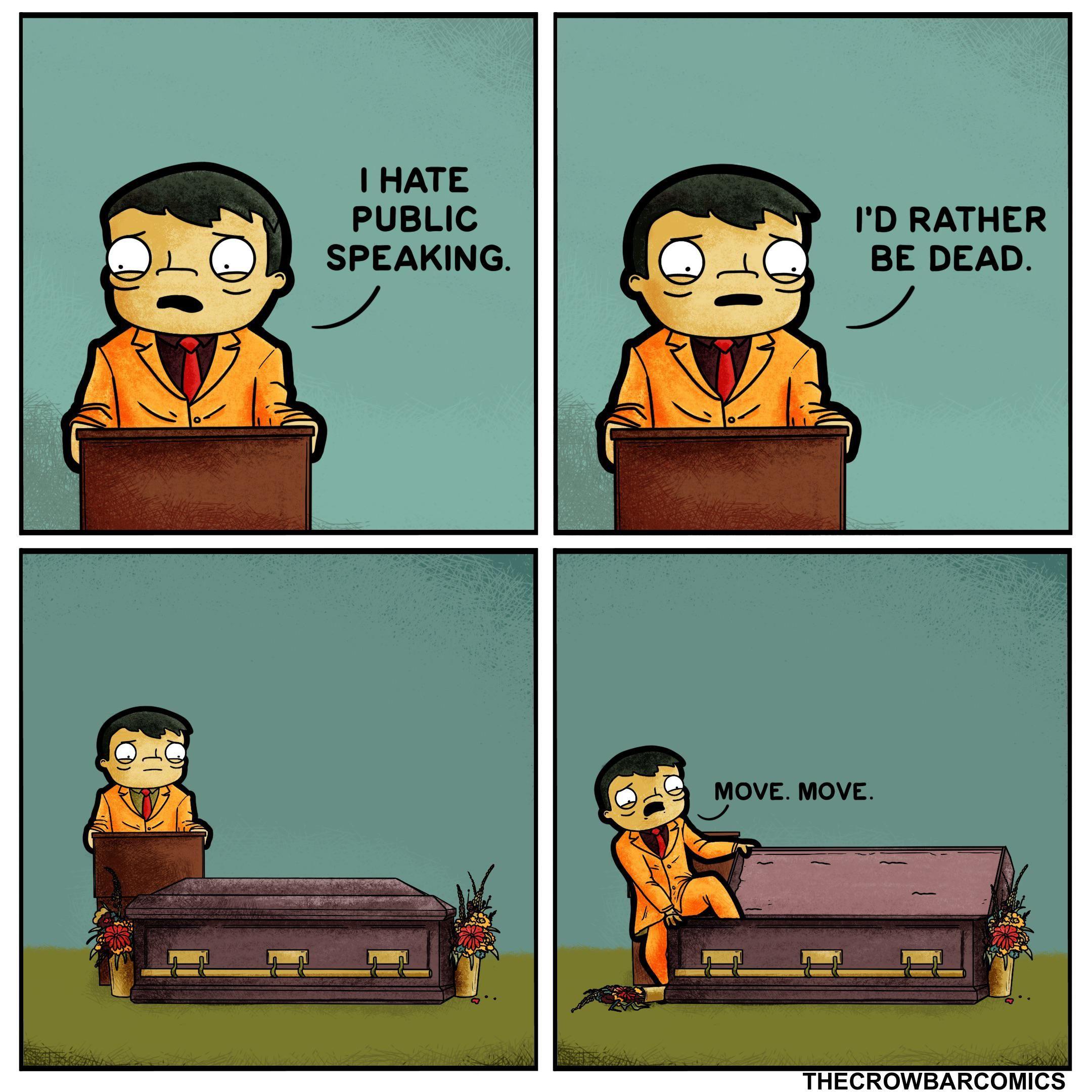public speaking.