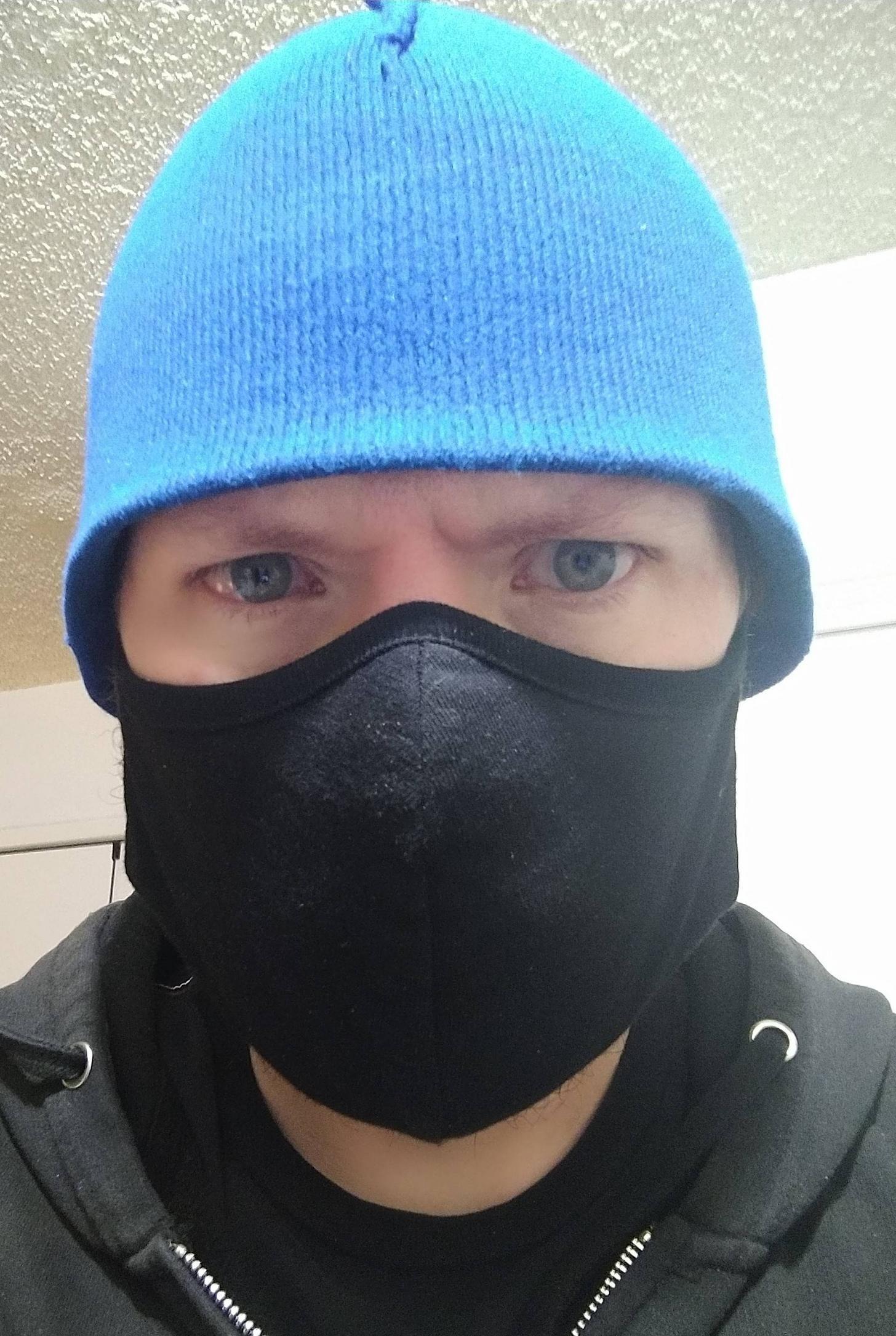 Due to mandatory face masks, I now serve COBRA!!!