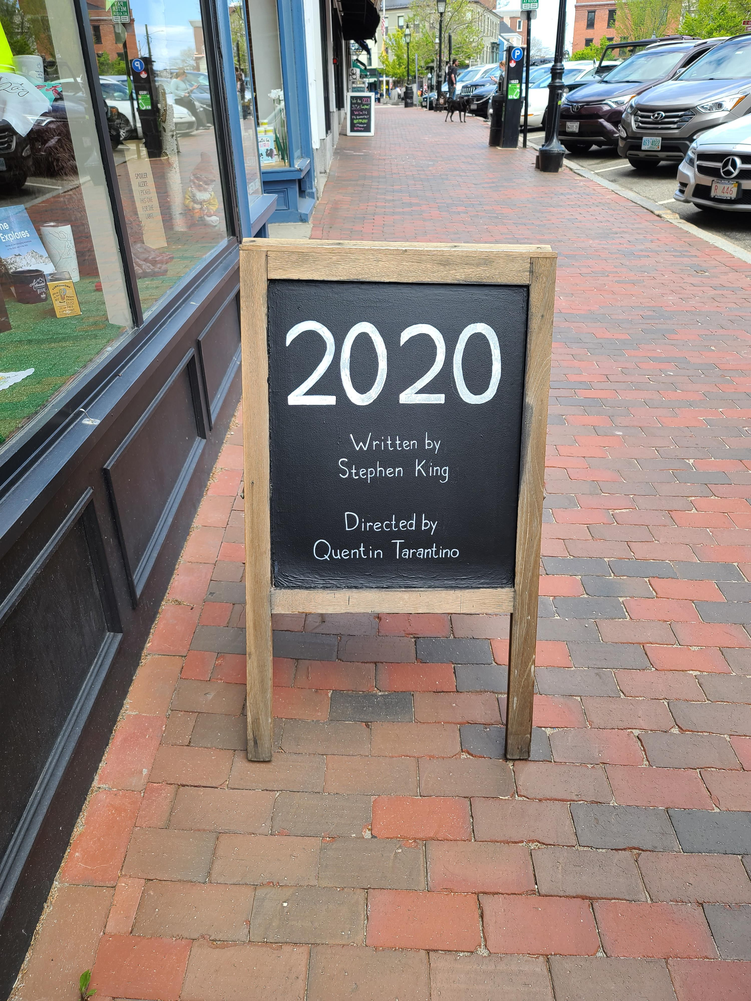 I saw this infront of a restaurant in Portsmouth NH, they're right