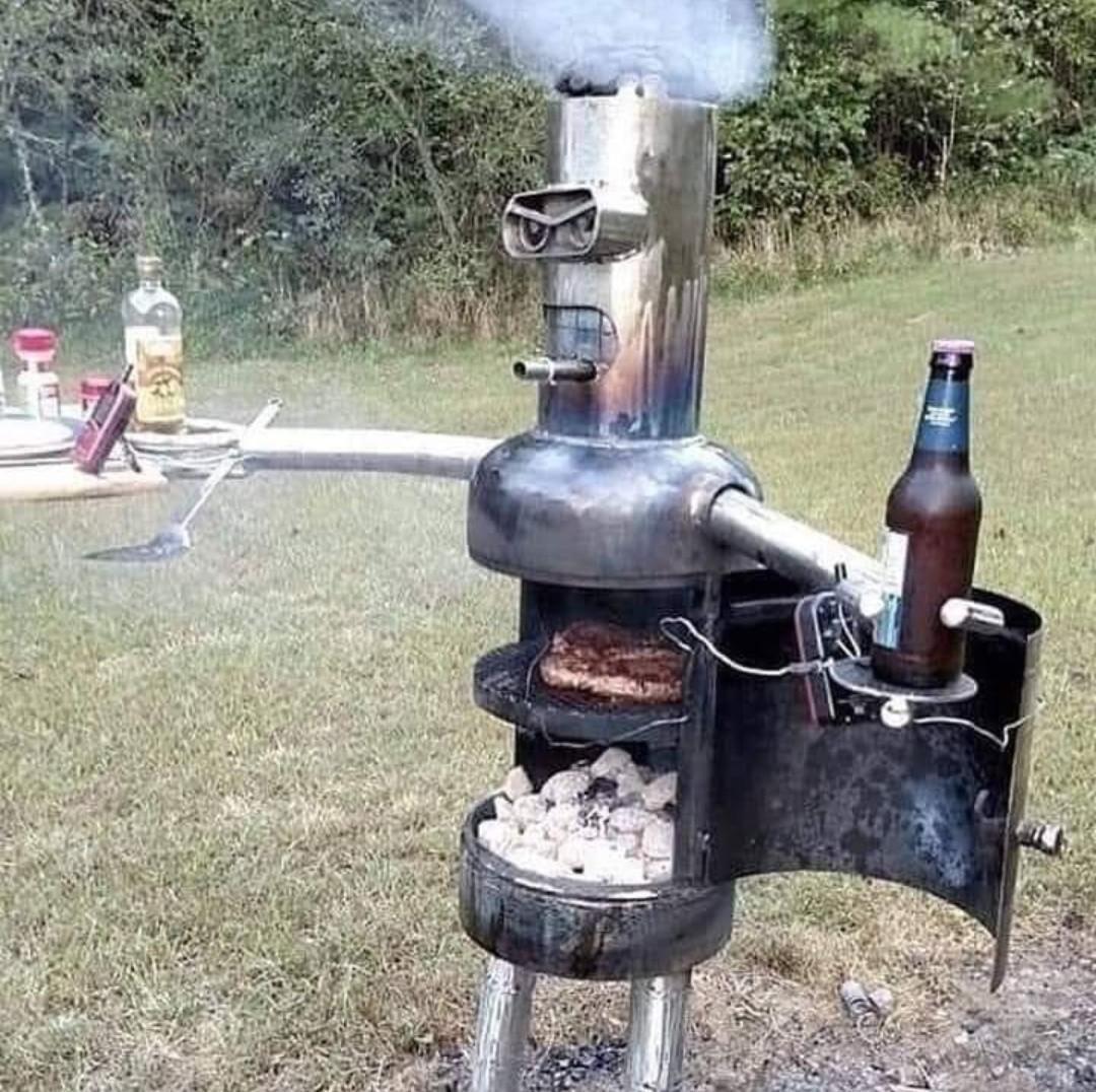 """Bite my shine metal grill"""