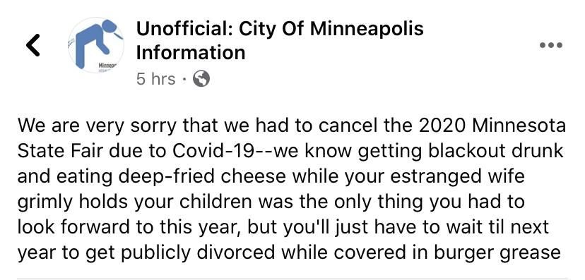 My state decided to cancel it's state fair this year.