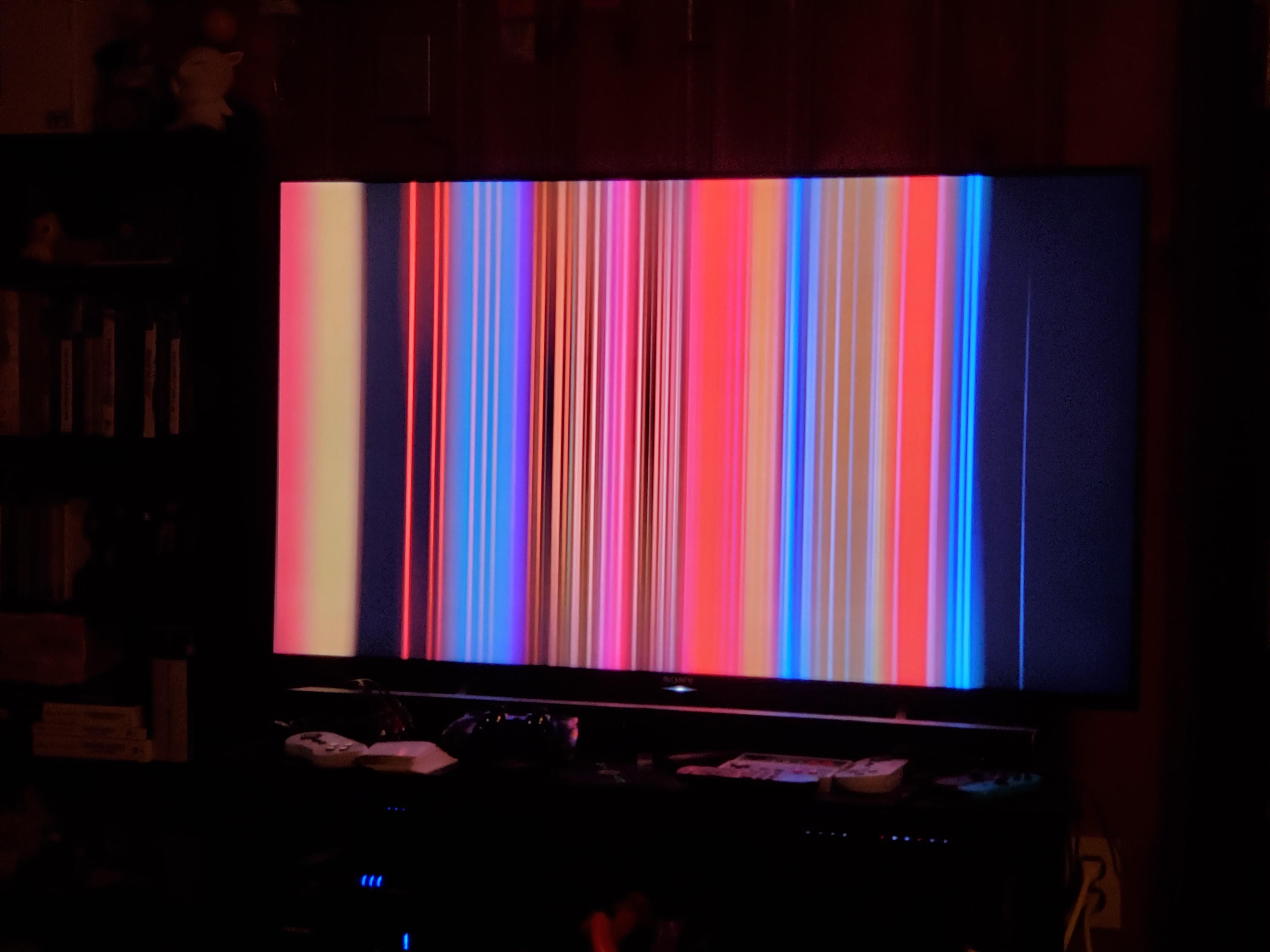 Walked in and thought the TV got smashed, wife just paused on the Netflix intro.