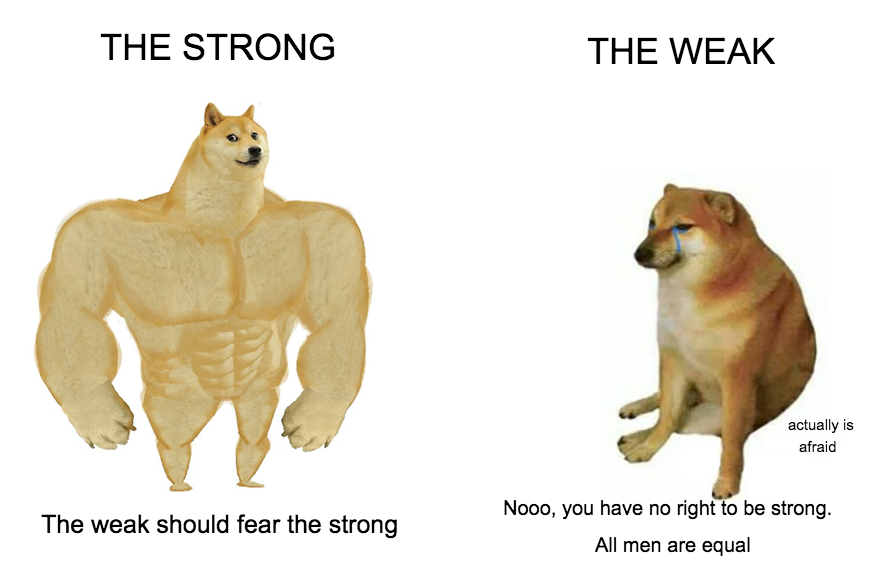 The strong, the weak and morality