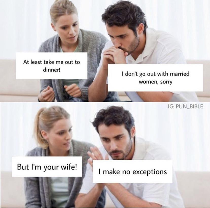 No exceptions!