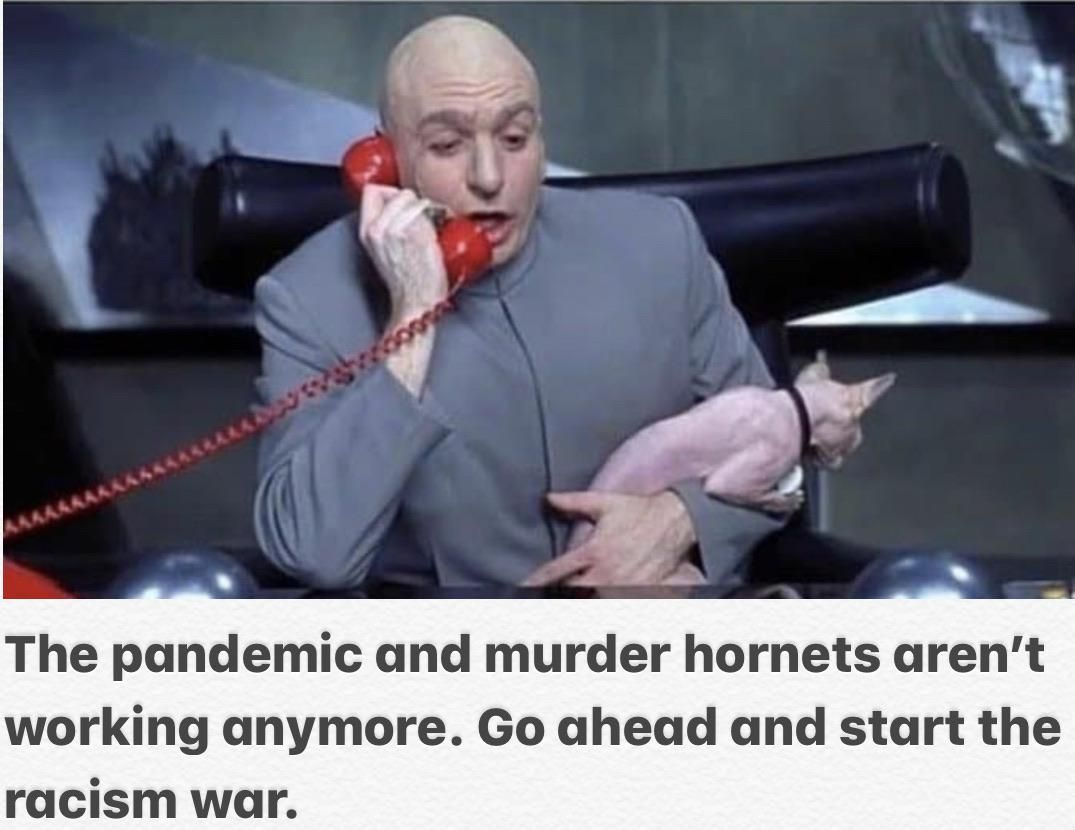 Dr. Evil up to no good again.