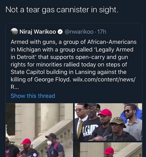 Nothing scares wh*tey like african american brothers with guns.