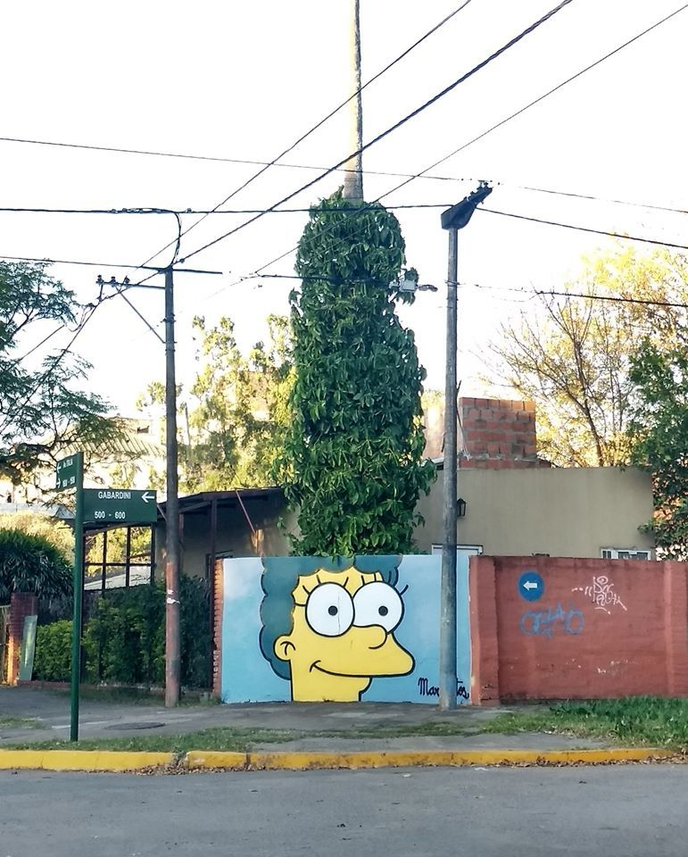 Marge's hair is looking a tad different