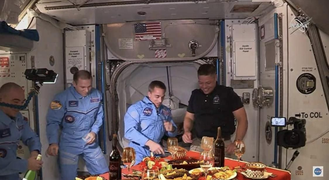 How the Russians greeted the Americans at the ISS.
