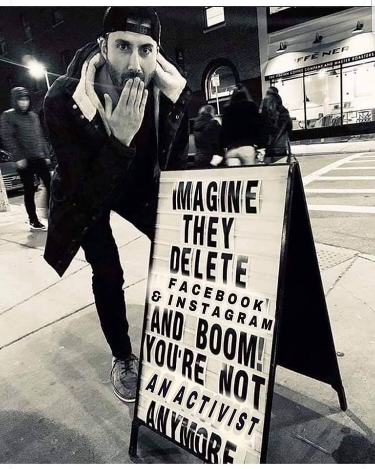 Imagine they delete Facebook and Instagram..