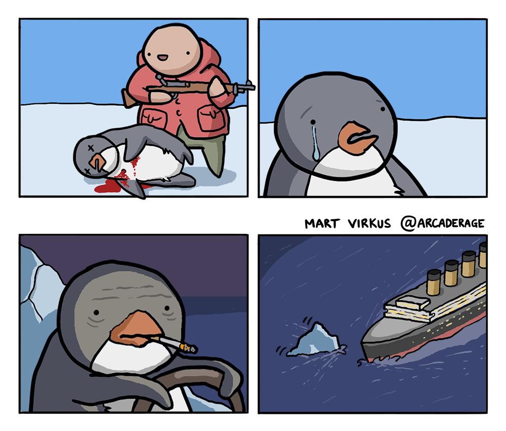 That's how the Titanic sank...