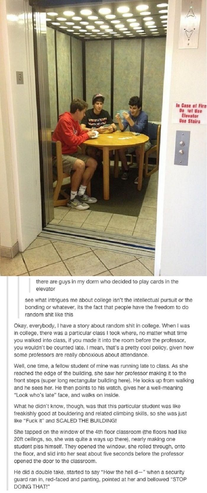 College story time
