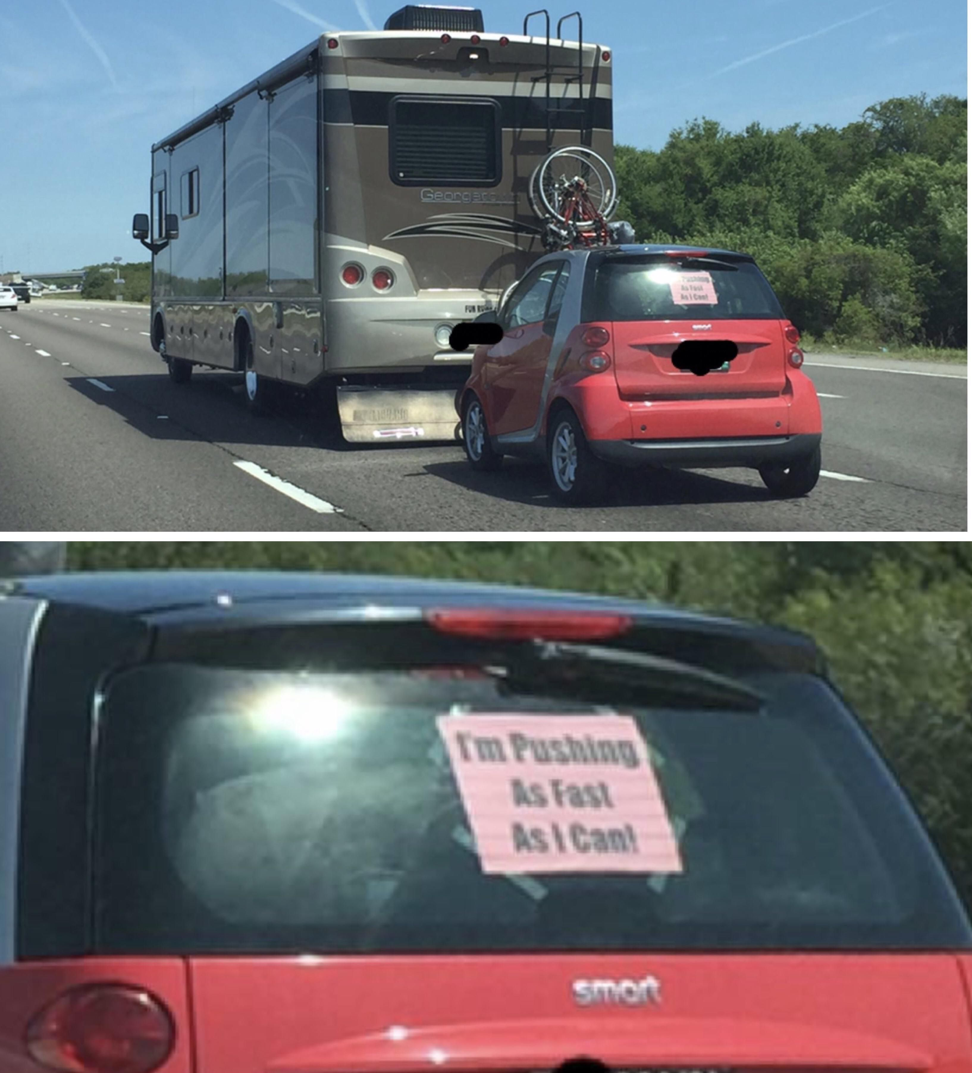 This is still one of my favorite things I've witnessed on the highway.