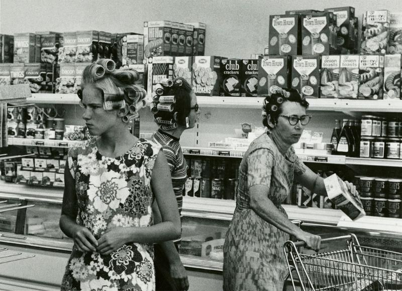Supermarkets in the 1950's...
