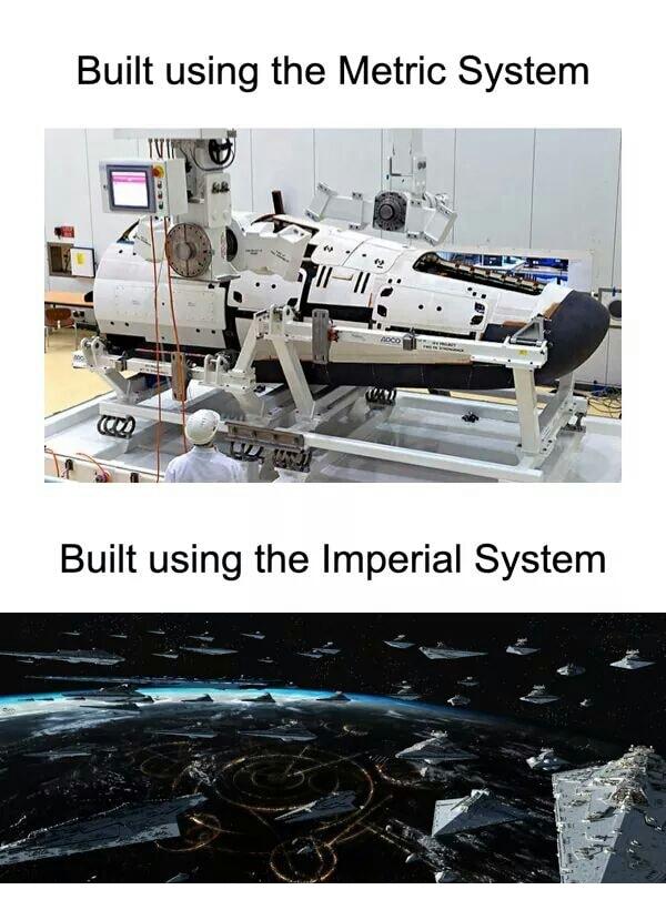 Imperial vs Metric Spaceships
