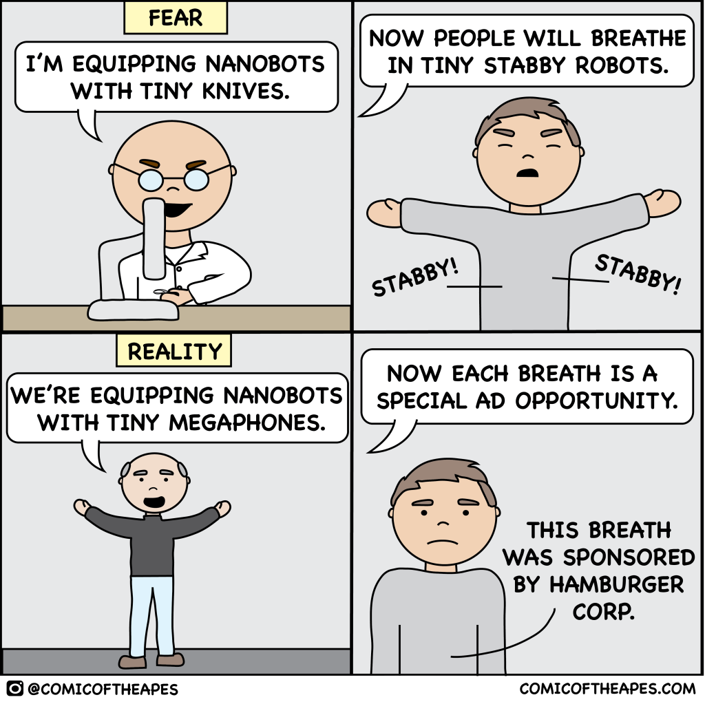 Nanobot fears vs reality