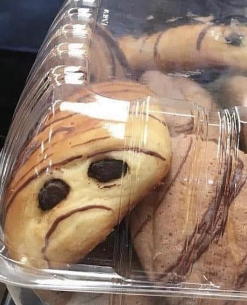 Pain au chocolat not finding the situation funny