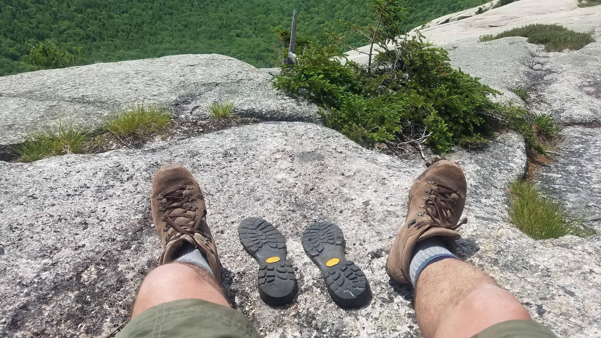 Went hiking for the first time in a while. My hiking boots are just as out of shape as I am.