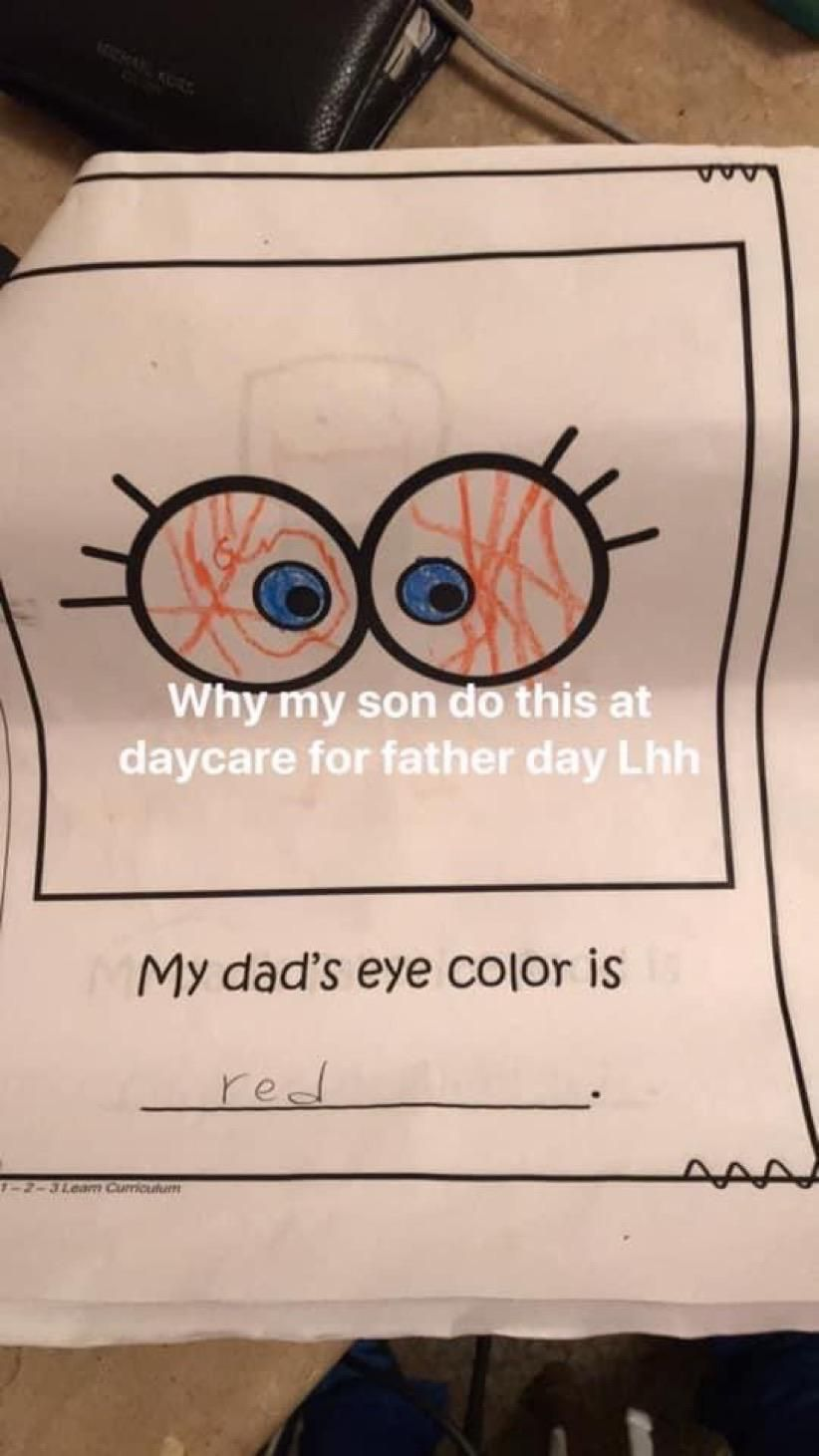 Dad's Eye Color