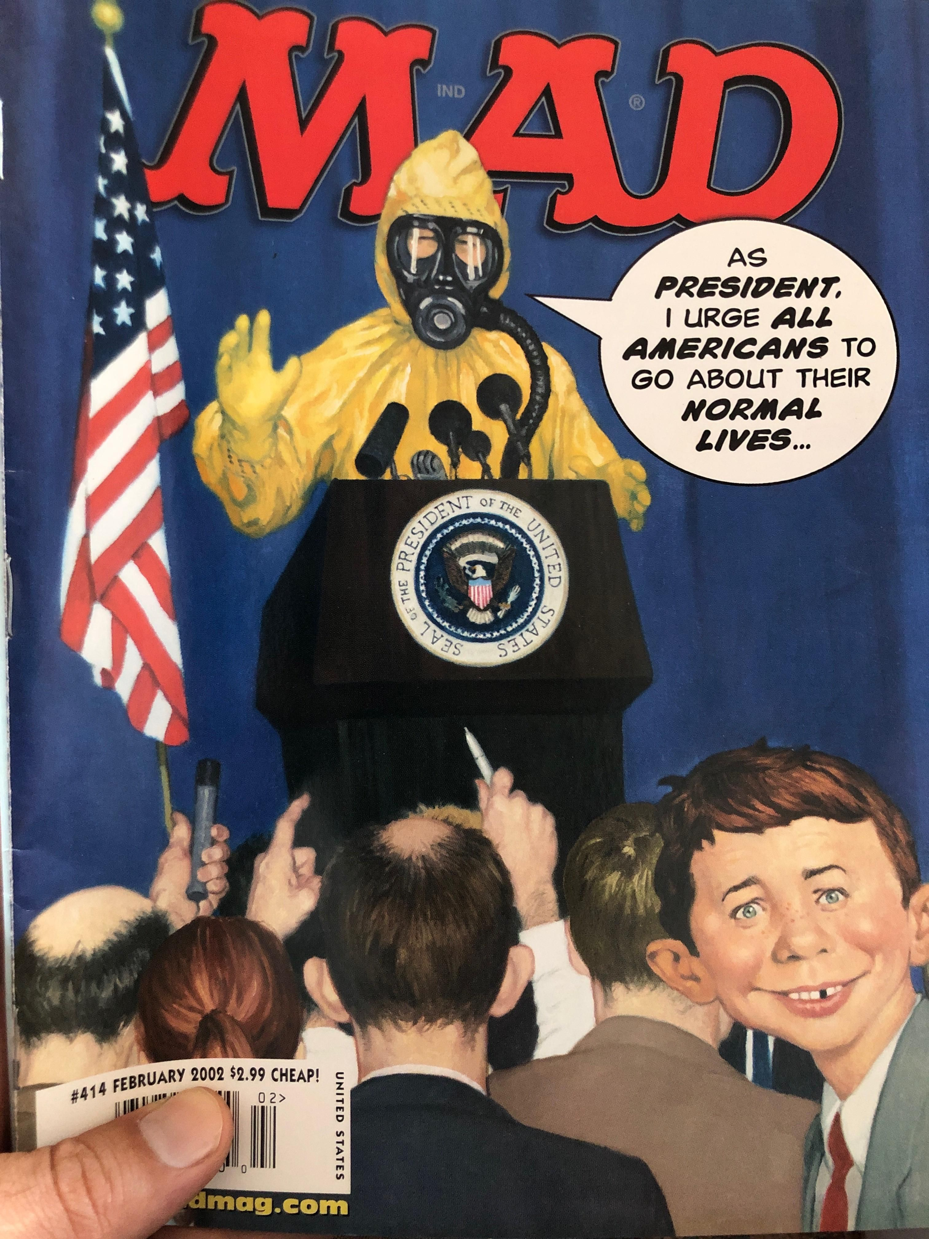 This MAD Magazine cover from Feb. 2002