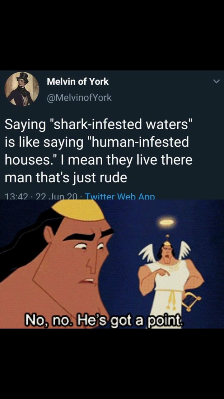He is not wrong