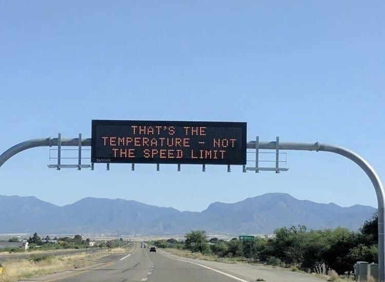 Only in Arizona. It was 109° today