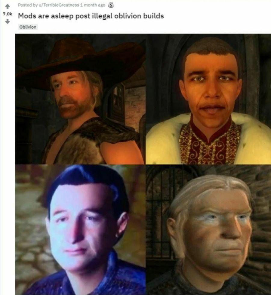 You got to love Oblivion
