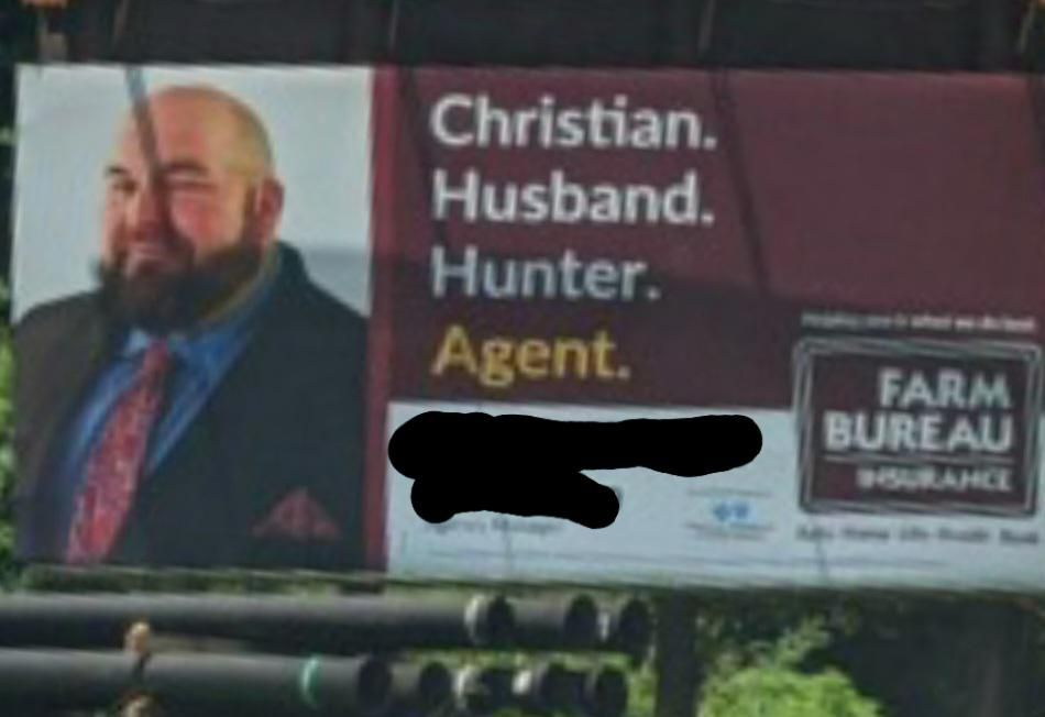 Does he sell insurance or hunt Christian husbands
